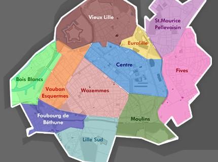 Carte de Lille interactive