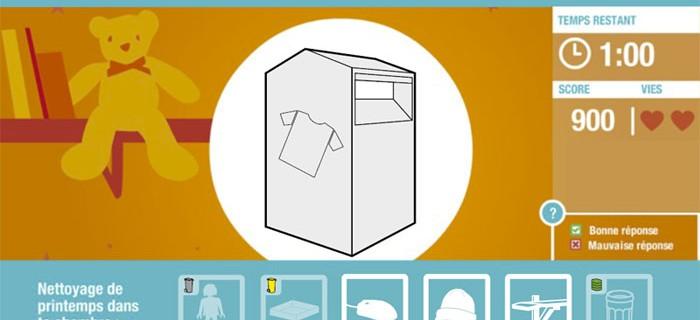 Jeux écologiques en flash pour déchetterie pilote