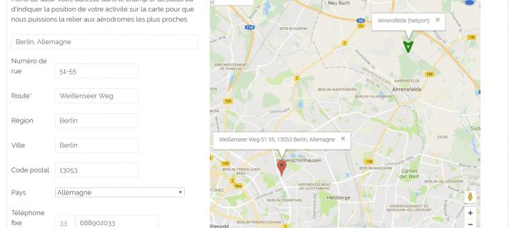 Protégé: Formulaire évolué  javascript/php & google maps pour WordPress