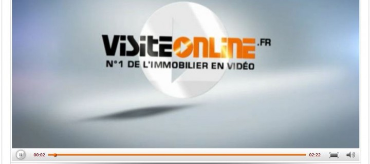 Player vidéo flash pour agence immo Visitonline