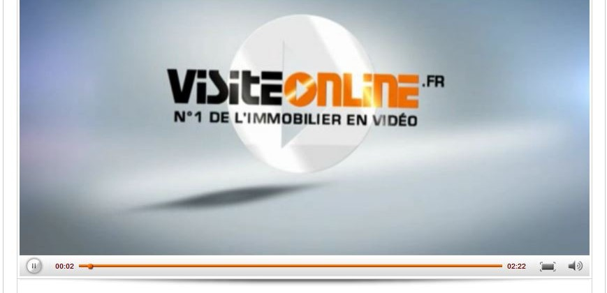 Player vidéo flash pour agence immo Visitonline