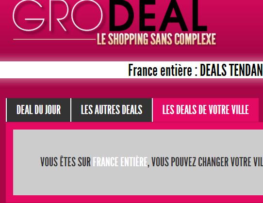 Finalisation script pour site d'achats groupés 'Grodeal'